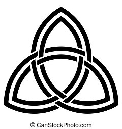 Religious sign. Wicca and Neopaganism. Triquetra (Celtic)....
