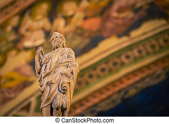 religious statue in church in italy