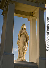 Low angle view of a religious statue