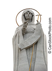 Religious statue. Oranta - the image sacred in a prayful pose