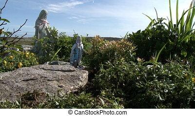 Religious Statues In Garden