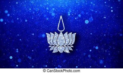 Religious symbol Ayyavazhi symbolism Icon Blinking Glitter...