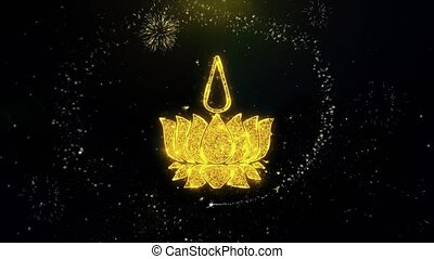 Religious symbol Ayyavazhi symbolism Icon on Gold Particles...