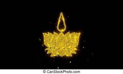 Religious symbol Ayyavazhi symbolism Icon Sparks Particles...