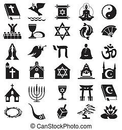 religious symbol - set vector images of religions simbol....