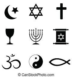 Religious symbols icons