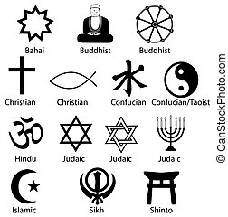 Sharp and clean, make excellent icons. Is Comparative Religion your subject? Syncretist? Polytheist? Your Symbols Of Contemporary World Religions are ready.