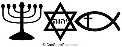 religious symbols - Symbols of Judaism and Christianity