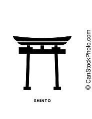 Religious symbols5-01.eps - Japan Gate. Shinto - a symbol of...