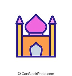 religious synagogue icon vector outline illustration - ...