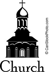 Religious temple or church - Black and white temple or...