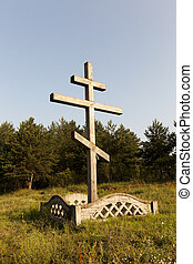 Religious wooden cross