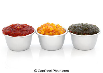 Relish Selection - Burger relish selection of tomato,...
