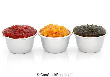 Relish Selection - Burger relish selection of tomato,...
