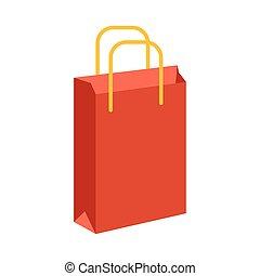 relleno, estilo, compras, icono, bolsa, línea