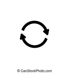 Reload 360 Circle Arrows Flat Vector Icon