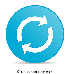 reload blue circle web glossy icon