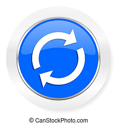reload blue glossy web icon