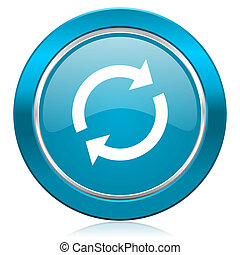 reload blue icon refresh sign