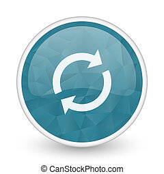 Reload brillant crystal design round blue web icon.