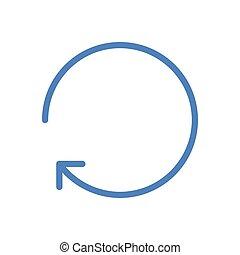 reload  color line icon