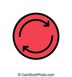 reload flat color icon