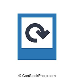 reload  glyph color icon