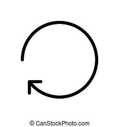 reload  glyph flat icon