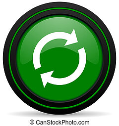 reload green icon refresh sign