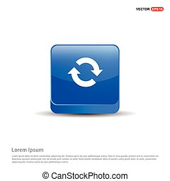 Reload icon - 3d Blue Button