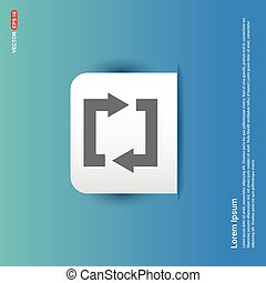 Reload Icon - Blue Sticker button