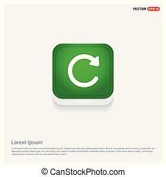 Reload icon Green Web Button