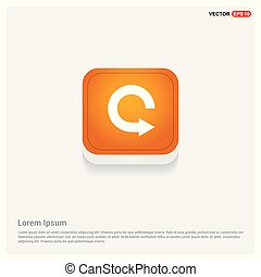 Reload Icon Orange Abstract Web Button