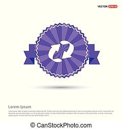 Reload Icon - Purple Ribbon banner