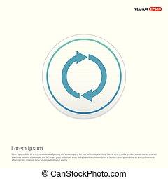 Reload Icon - white circle button