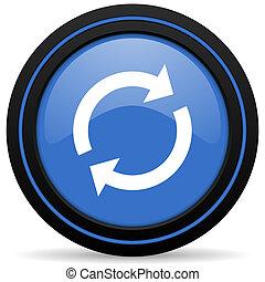 reload, ikon, felfrissít, aláír