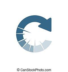 reload logo design vector stylish loading icon circular Arrow Symbol illustrations