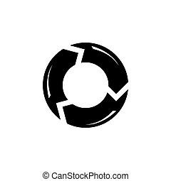 Reload Refresh Arrows Loop Flat Vector Icon