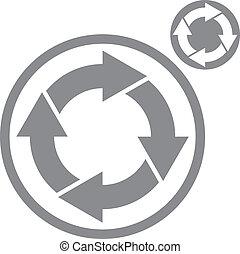 Reload refresh arrows loop vector simple single color icon isola