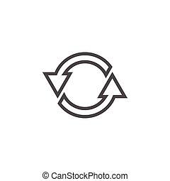 Reload refresh icon graphic design template vector