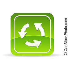 reload, verde, icona