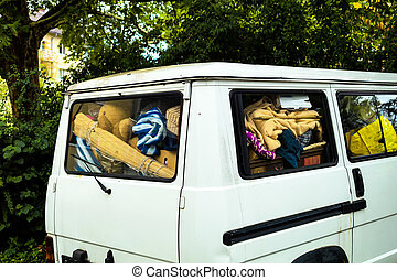 relocation and eviction - the whole have good and in a van....