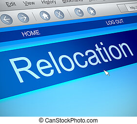 Relocation information concept. - Illustration depicting a ...