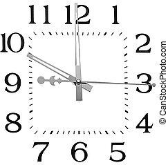 reloj, aislado, blanco