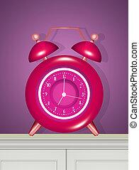 reloj, alarma, ilustración