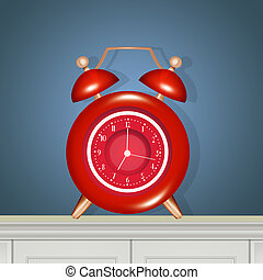 reloj, cabecera, alarma