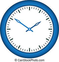 reloj, -, cara, vector, fácil, tiempo, cambio