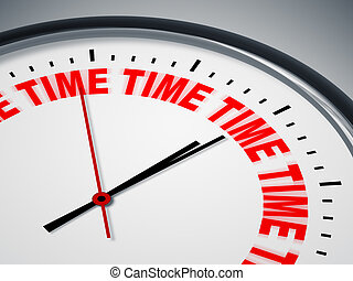 reloj, con, palabras, tiempo