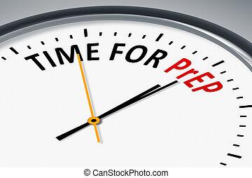 reloj, con, texto, tiempo, para, prep