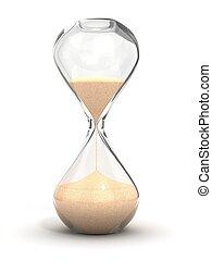 reloj de arena, sandglass, contador de tiempo de la arena